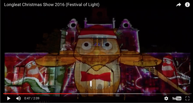 Video mapping using projector and enclosure